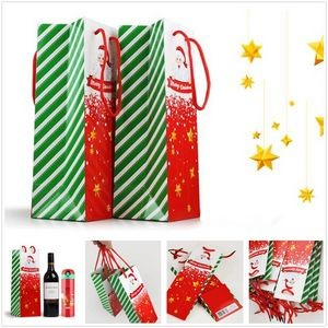 Merry Christmas Inventory Bags for Wine