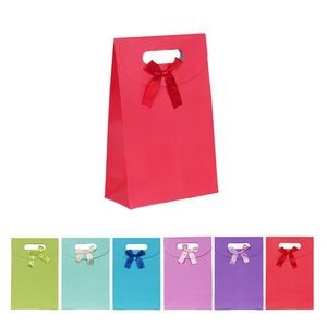Solid Color Paper Candy Bags with Ribbon Decor
